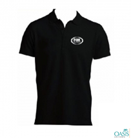 Black Polo Style Collared Tee