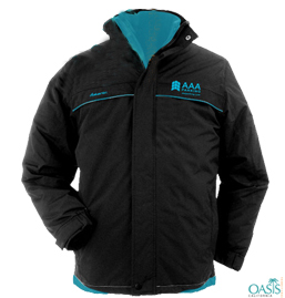 Blue Lined Black AAA Winter Jacket