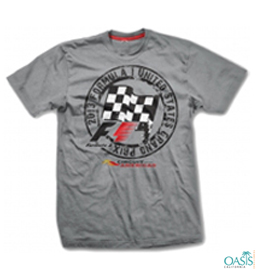 Cloudy Grey Formula 1 Tee With Print