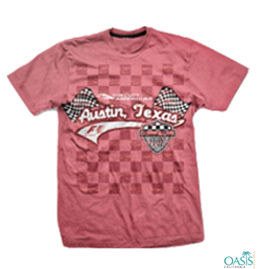 Pink Formula 1 Tee With Self Print