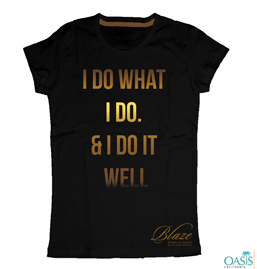 Golden Words Black T-Shirt