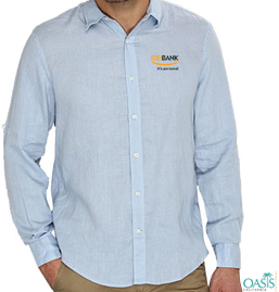 Light Blue Full Sleeve Logo Shirt