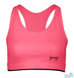 Pink Sports Bra