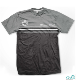 Grey Black Round Neck T Shirt