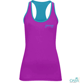 Magenta Racer Back Tank Top