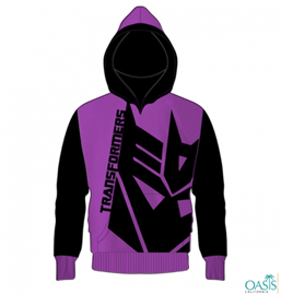 Purple & Black Hood Jacket
