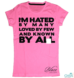 Slogan Hot Pink T-Shirt