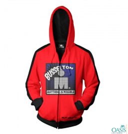 Smart Red Jacket With Hood