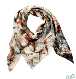 Sun Shade Floral Printed Scarf
