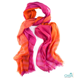 Orange and Pink Scarf
