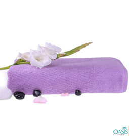 Deep Purple Towels Supplier
