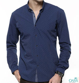 Navy Blue Oxford Shirts