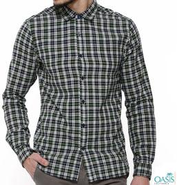 Gingham Check Shirts Mens