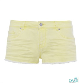 Light Yellow Shorts Supplier