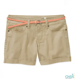 Bold Beige Shorts For Women