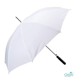 White Promotional Umbrellas Distributor USA