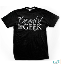 Beauty And The Geek Plain Black T Shirt