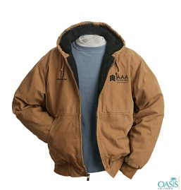 Black Lined Brown AAA Winter Jacket