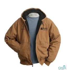 Black Lined Brown AAA Winter Jacket