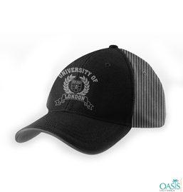 Black Striped Baseball Cap