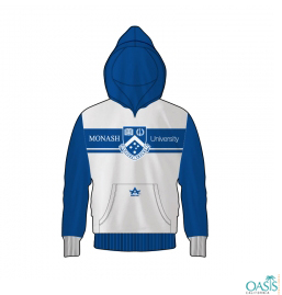 Blue And White Hood Jacket