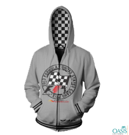 Bunny Grey Hooded Formula 1 Jacket