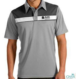 Crisp Collared Grey AAA T Shirt