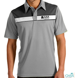 Crisp Collared Grey AAA T Shirt