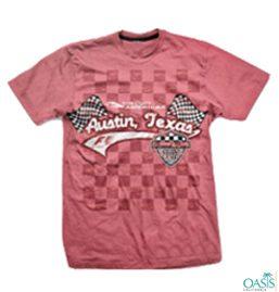 Pink Formula 1 Tee With Self Print