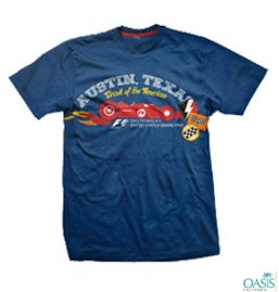 Electric Blue Formula 1 Tee With Print