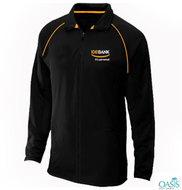 Black Pullover With Orange Piping