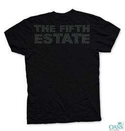 Fifth Estate Jet Black Round Neck Tee