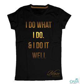 Golden Words Black T-Shirt