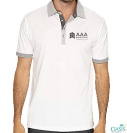 Grey-White Collared Sports AAA T Shirt