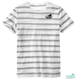'Stripe Out' Half Sleeve T Shirt