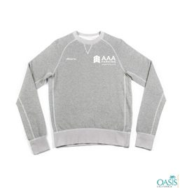 Light Grey Make-My-Day Long Sleeve Sweatshirt