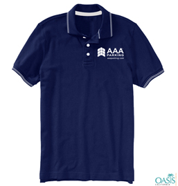 Midnight Blue Lined Collared AAA T shirt