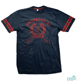 Navy Blue And Red Tee
