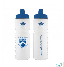 Pair Of White Sporty Water Bottles