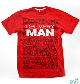 Red Delivery Man Top