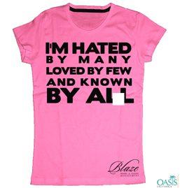 Slogan Hot Pink T-Shirt