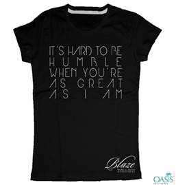 Stylish Black Statement T-Shirt