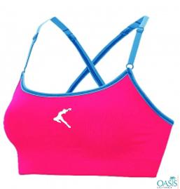 Sensuous Pink Sports Bra