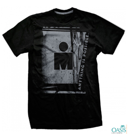 Shadow Print Black Ironman Tee