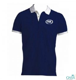 Smart Fit Collared Navy Blue Tee