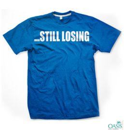 Still Losing Blue T Shirt for Weight Watchers
