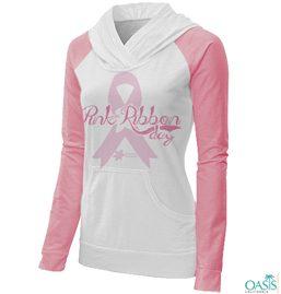 Stylish Pink Ribbon Sweat Shirts