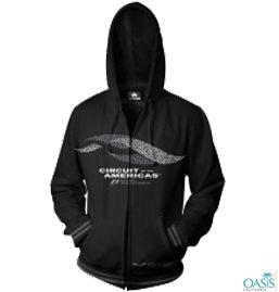 Velvety Black Formula 1 Hooded Jacket