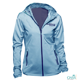 Waterproof Blue Promotional Jacket