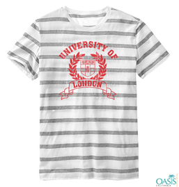 White And Grey Striped Tee